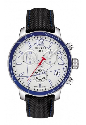 TISSOT QUICKSTER ICE HOCKEY MEN'S QUARTZ SILVER DIAL WITH SYNTHETIC STRAP T0954171703700 42mm