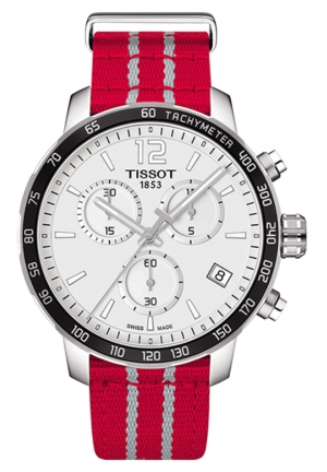 TISSOT HOUSTON ROCKETS QUICKSTER QUARTZ CHRONOGRAPH MEN'S WATCH T0954171703712, 42MM