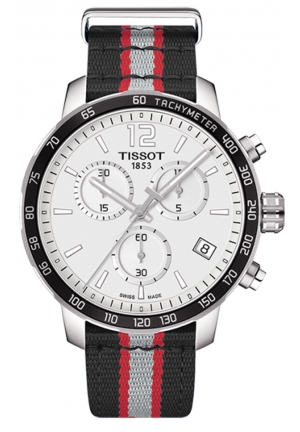 TISSOT TORONTO RAPTORS QUICKSTER QUARTZ CHRONOGRAPH MEN'S WATCH T0954171703716 , 42MM