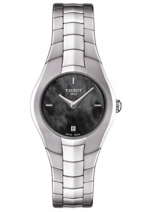TISSOT T Trend T Round Black Dial Stainless Steel Ladies Watch T0960091112100, 26mm