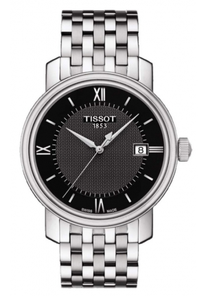TISSOT BRIDGEPORT MEN'S QUARTZ BLACK DIAL WITH STAINLESS STEEL BRACELET T0974101105800 40mm