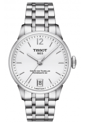 Tissot Chemin Des Tourelles Women's Automatic White Dial with Stainless Steel Bracelet T099.207.11.037.00