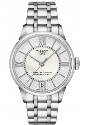 Chemin Des Tourelles Women's Automatic White MOP Dial with Stainless Steel Bracelet T099.207.11.118.00
