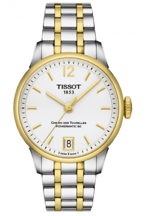 Tissot Chemin Des Tourelles Women's Automatic White Dial with Two-Tone Stainless Steel Bracelet T099.207.22.037.00