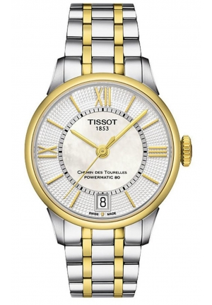 Chemin Des Tourelles Women's Automatic White MOP Dial with Two-Tone Stainless Steel Bracelet T0992072211800