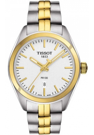 TISSOT PR 100 Silver Dial Two-tone Ladies Watch , T1012102203100 33mm