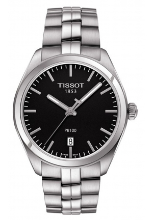 TISSOT PR 100 Black Dial Stainless Steel Men's Watch T1014101105100, 39mm