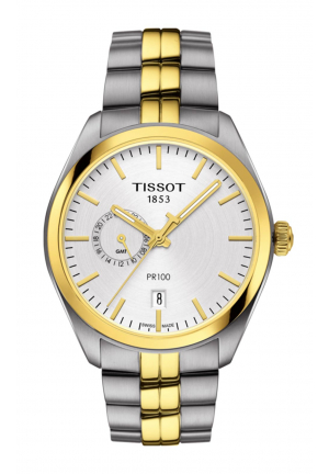 TISSOT PR 100 DUAL TIME T1014522203100, 39MM