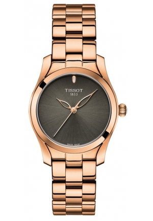 TISSOT LADIES T-WAVE ROSE GOLD WATCH T112.210.33.061.00