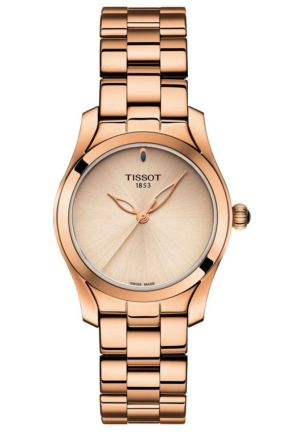 Tissot Ladies T-Wave Rose Gold Watch T112.210.33.451.00