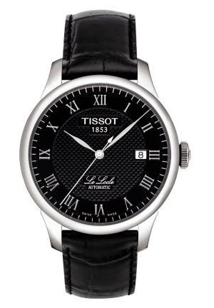 LE LOCLE MEN'S BLACK AUTOMATIC CLASSIC WATCH , T41142353 39.3MM