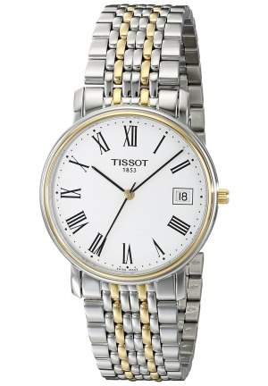 TISSOT Men's T-Classic Desire Two-Tone Watch T52248113, 34mm