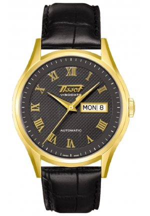 TISSOT Visodate 18K Yellow Gold Mens Watch T910.430.16.083.00, 40mm