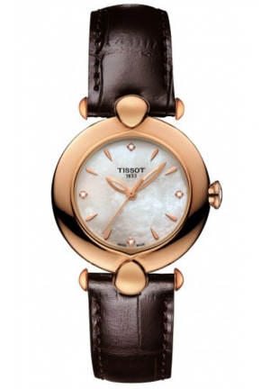 TISSOT Pretty 18K Rose Gold Quartz White MOP Dial Diamond T9182107611600
