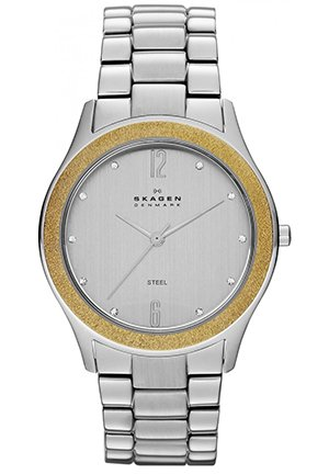 Three Hand Stainless Steel Watch - Silver And Gold 37.5mm