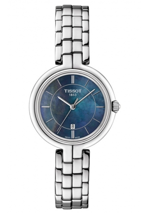 TISSOT FLAMINGO WOMEN'S QUARTZ MOP BLACK DIAL WITH STAINLESS STEEL BRACELET T094.210.11.121.00 26mm