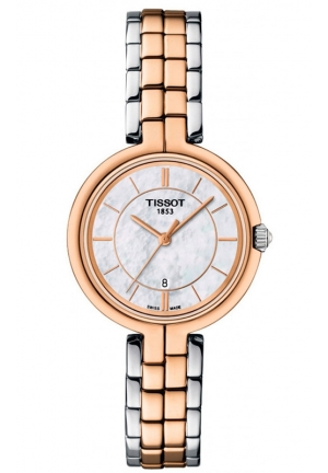 TISSOT FLAMINGO WOMEN'S QUARTZ MOP WHITE DIAL WITH DUAL-TONE BRACELET T094.210.22.111.00 26mm