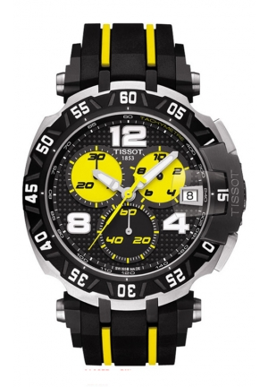 TISSOT T--RACE THOMAS LUTHI LIMITED EDITION 2015 MEN'S QUARTZ CHRONOGRAPH BLACK DIAL WITH RUBBER STRAP T092.417.27.057.00 44mm