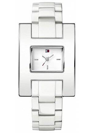 TOMMY HILFIGER Women's White Plastic Bracelet Watch 39mm
