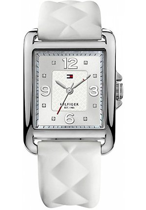 TOMMY HILFIGER Women's White Quilted Silicone Strap 45x32mm