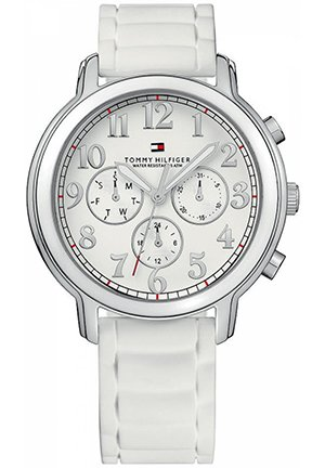 TOMMY HILFIGER Women's White Rubber Strap 36mm