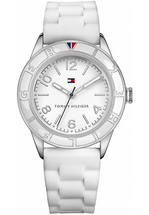 TOMMY HILFIGER Women's White Silicone Strap 44mm