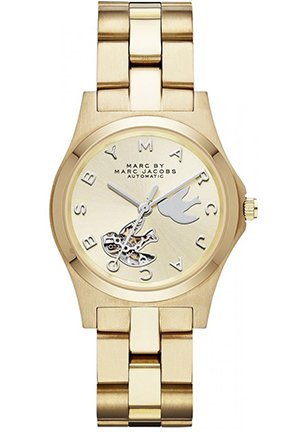 Two-Tone Stainless Steel Bird Cutout Unisex Watch 32mm MBM9709