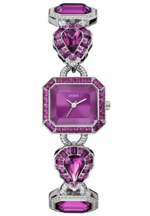 Guess Women's Violet Dial Stainless Steel Band Watch 23mm