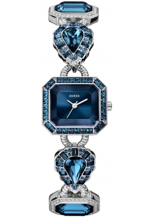 GUESS Women's Blue Jeweled Watch 23mm