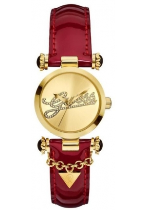 GUESS Ladies Watch Red Leather 32mm