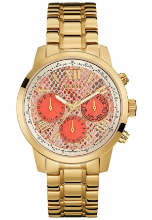 GUESS Gold-Tone Steel Bracelet Watch 42mm