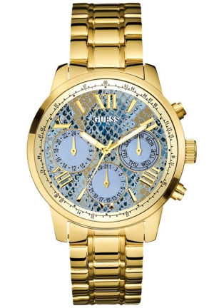 GUESS Women's Gold-Tone Stainless Steel Bracelet Watch 42mm