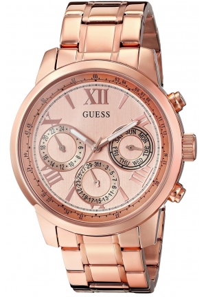 GUESS Women's Rose Gold-Tone Stainless Steel Watch
