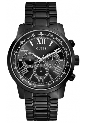 GUESS Black Classic Sport Chronograph Watch 45mm