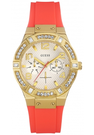 GUESS Coral Silicone Strap Watch 39mm