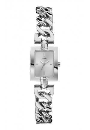GUESS Petite Silver-Tone Chain Watch 19mm