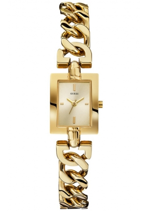 GUESS Women's Gold-Tone Chain Bracelet Watch 19mm