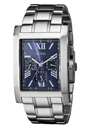 GUESS Men's Stainless Steel Bracelet Watch 54x33mm