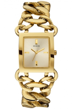GUESS Gold-Tone Chain Bracelet Watch 30x27mm