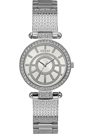 GUESS WOMEN'S STAINLESS STEEL BRACELET WATCH 32MM