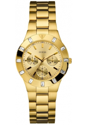 Guess Women's Gold Stainless-Steel Quartz Watch with Gold Dial 36mm