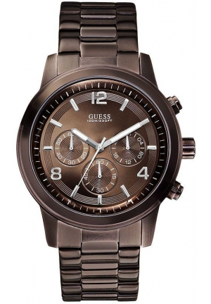GUESS Bold Contemporary Chronograph Watch - Bronze 45mm