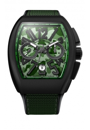 CAMOUFLAGE GREEN MEN'S WATCH V 45 CC DT CAMOU, 44 X 53.7MM