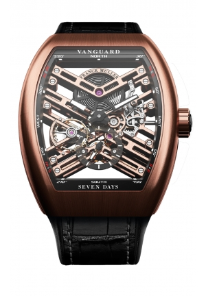 VANGUARD™ 7 DAYS POWER RESERVE SKELETON V 45 S6 SQT GOLD, 44 Х 53,7MM