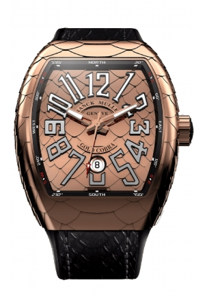 VANGUARD COBRA ROSE GOLD MEN'S WATCH V 45 SC DT GOLD COBRA, 44 X 53.7MM