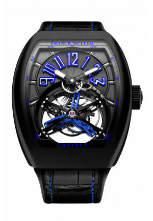 FRANCK MULLER GRAND COMPLICATIONS GRAVITY SKELETON V 45 T GR CS BR NR BLUE, 44Х53,7MM