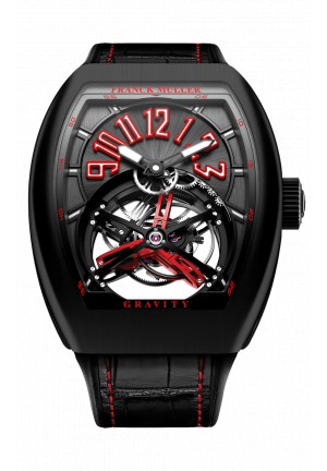 FRANCK MULLER GRAND COMPLICATIONS GRAVITY SKELETON V 45 T GRAVITY CS SQT CARBON, 44Х53,7MM