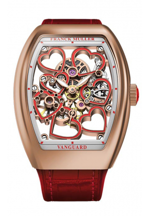 FRANCK MULLER THE VANGUARD HEART SKELETON, 35 X 46.3MM