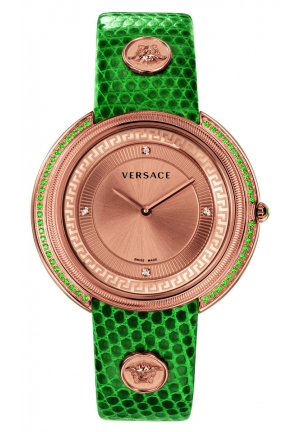 THEA ANALOG DISPLAY QUARTZ GREEN LADIES WATCH 39MM