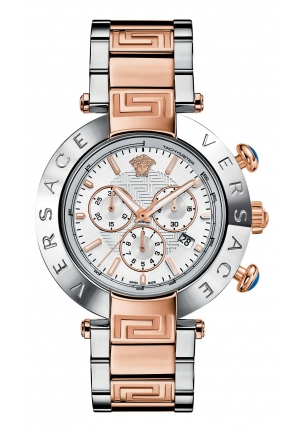 VERSACE Men's Swiss Chronograph Reve Two-Tone Stainless Steel Bracelet 46mm